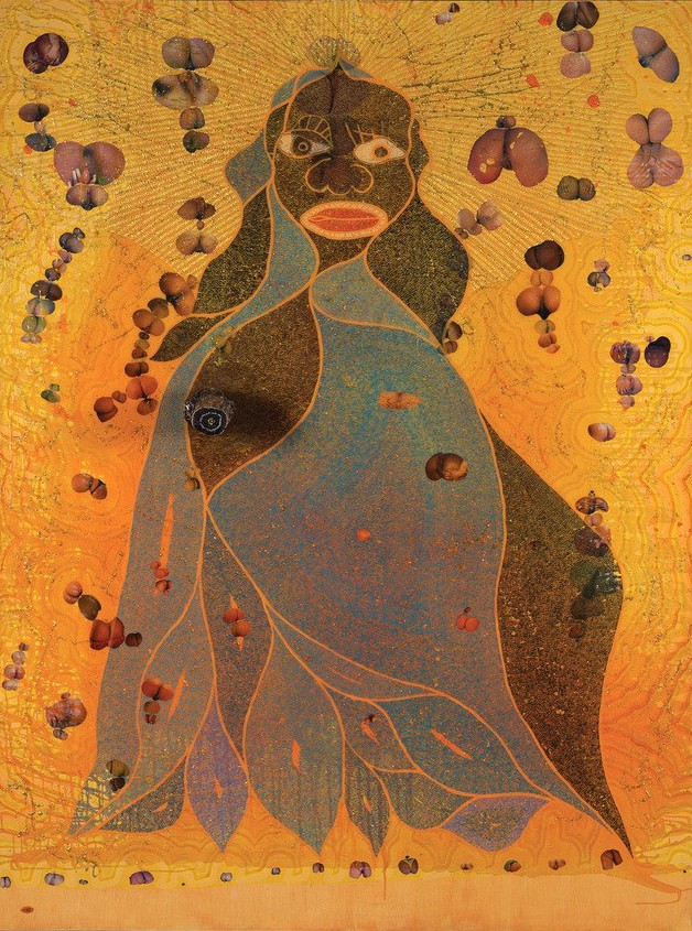 Chris Ofili Holy Virgin Mary