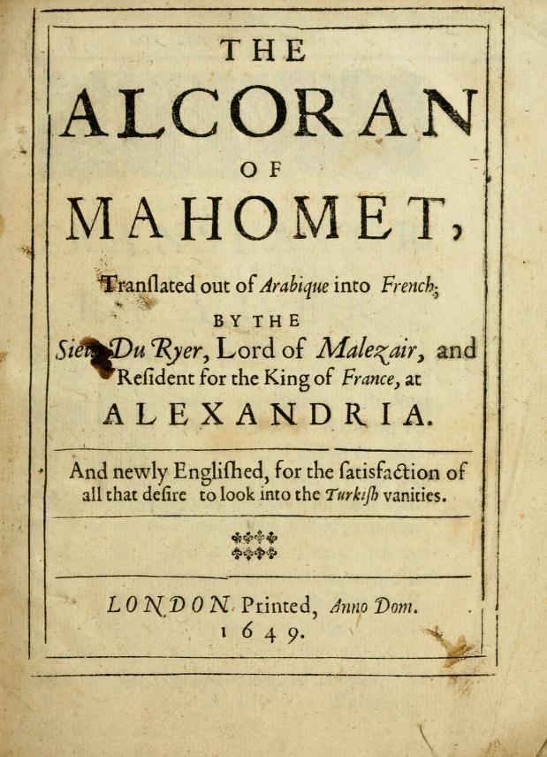Alcoran Alexander Ross
