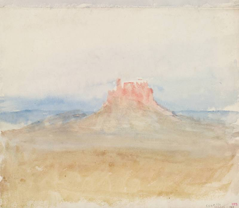 'Athens: the Acropolis', Sketch for Illustration to Byron circa 1830 by Joseph Mallord William Turner 1775-1851