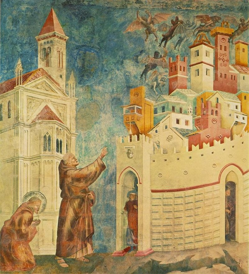 Giotto St Francis Driving Out the Demons of Arezzo