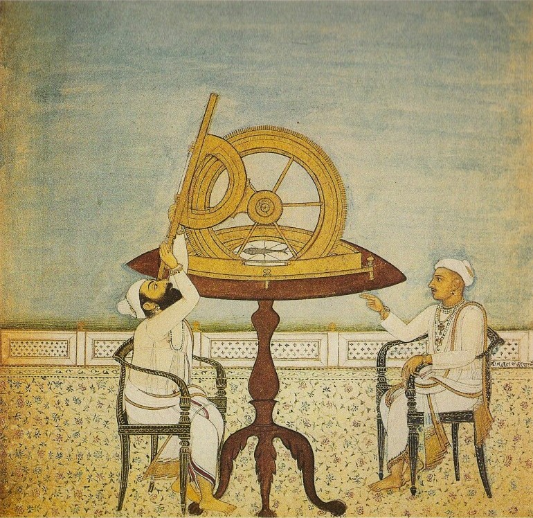 Late Mughal-period painting of two astronomers