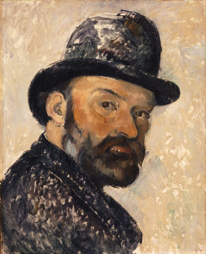 Cezanne Self portrait in a bowler hat