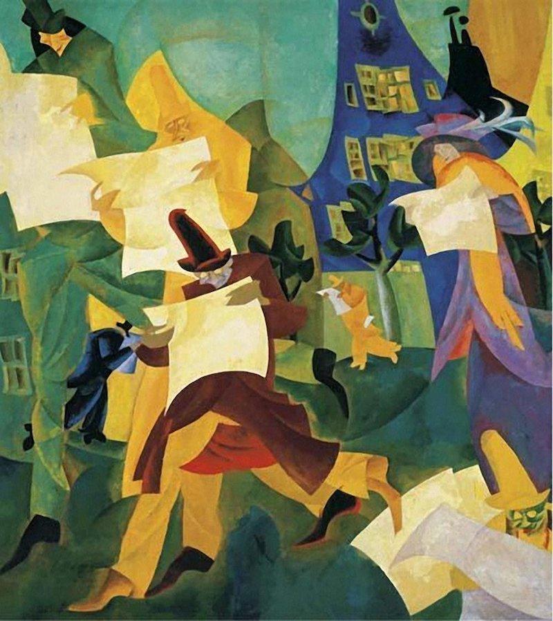 Lyonel Feininger Newspaper Readers