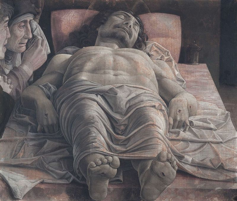 Andrea Mantegna The dead Christ and three mourners