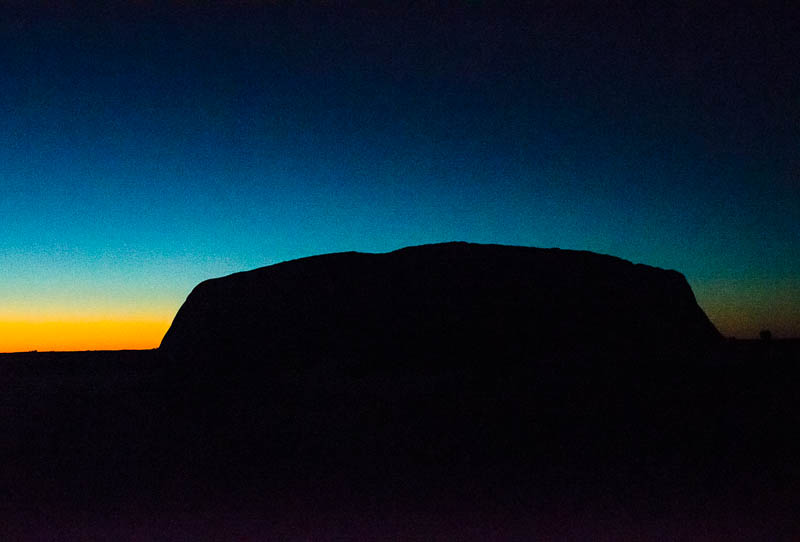 Uluru at first light
