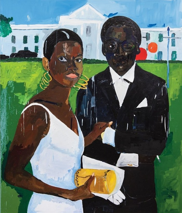 Henry Taylor Cicely and Miles Visit the Obamas