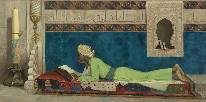 Osman Hamdi Bey A Young Emir Studying