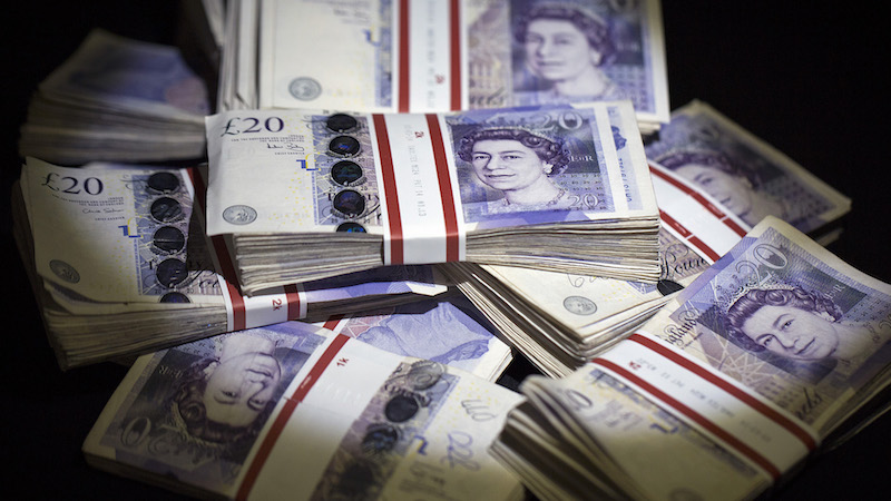 British Pound Banknotes As Currency Rises After Central Bank Keep Rates On Hold