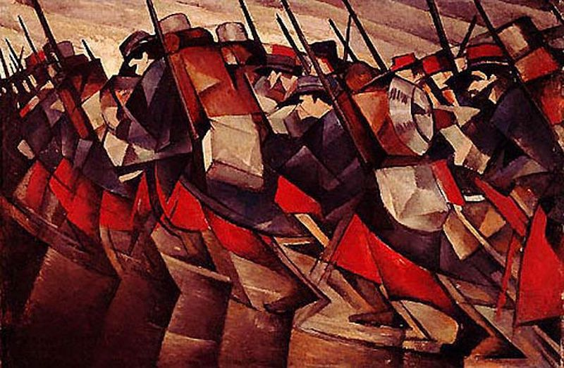 CRW Nevinson Returning to the trenches