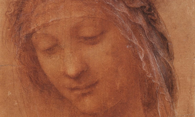 1Leonardo The head of the Madonna