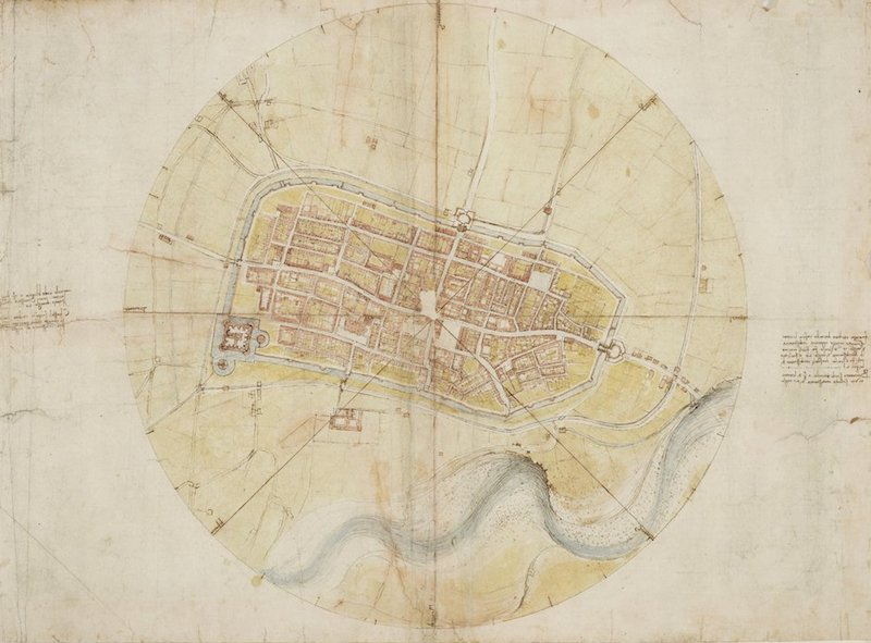 Leonardo A map of Imola