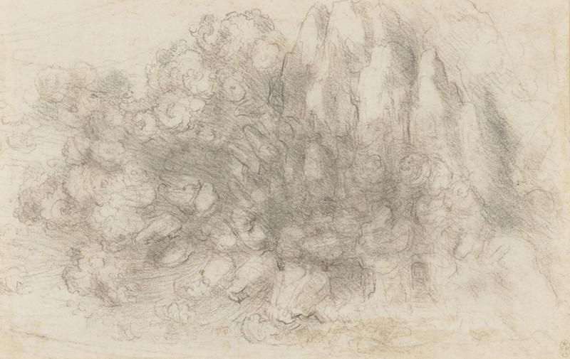 Leonardo A mountainous landscape