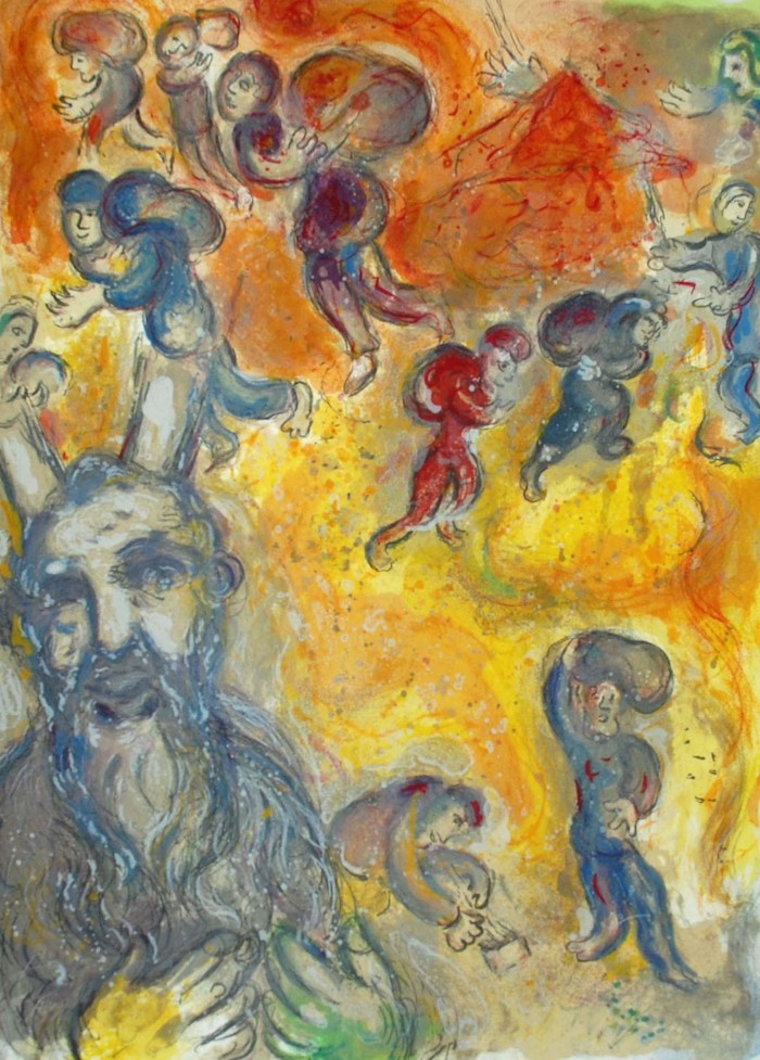 Marc Chagall Moses Sees the Sufferings of His People
