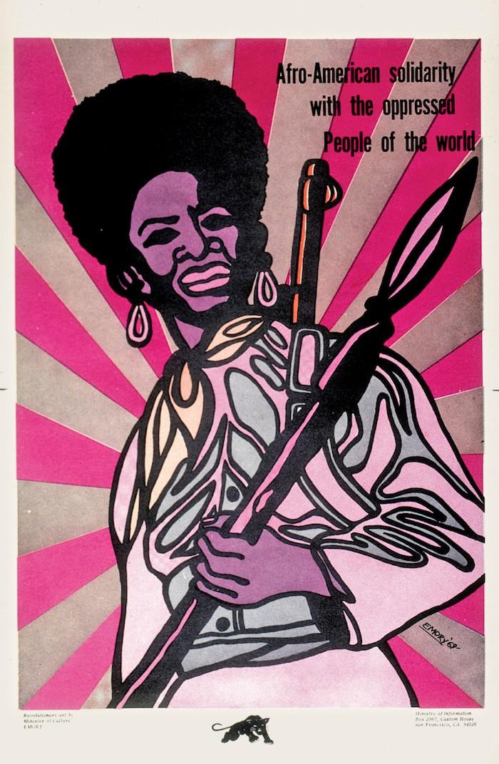Emory Douglas Solidarity poster