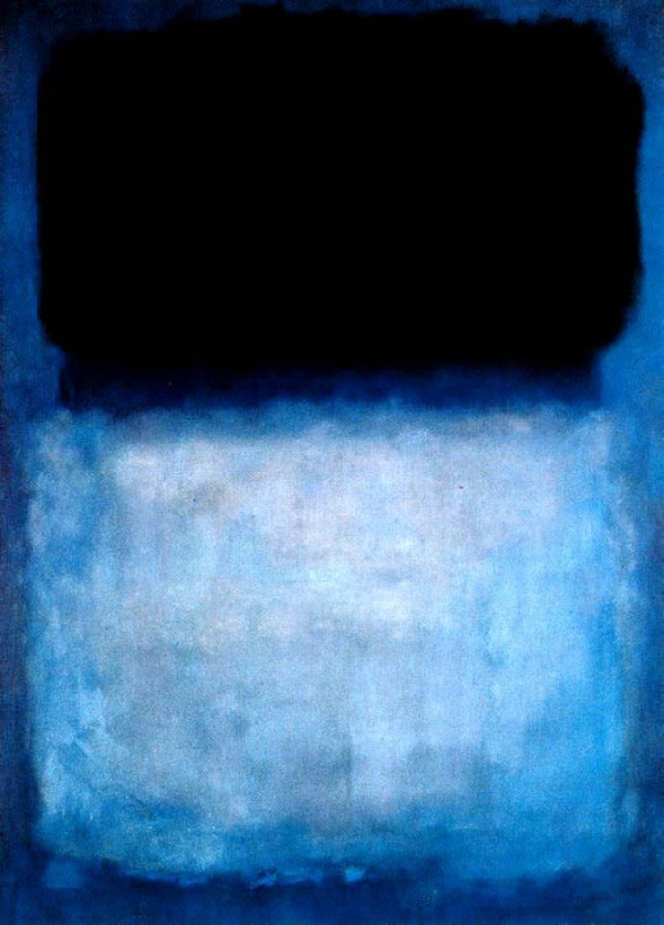 Mark Rothko Green over blue