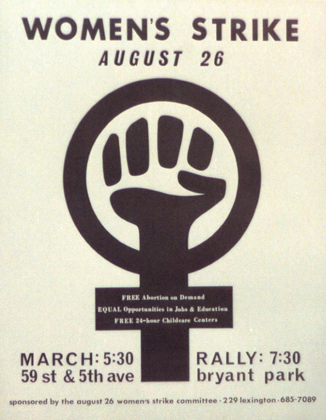 1970 Women' Strike for Equality poster
