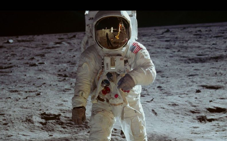 Buzz Aldrin as photographed by Neil Armstrong