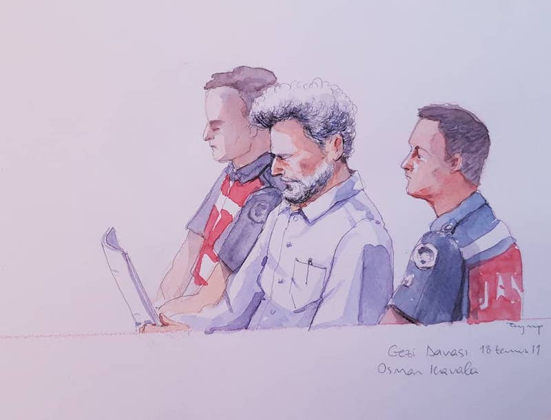 Osman Kavala in court