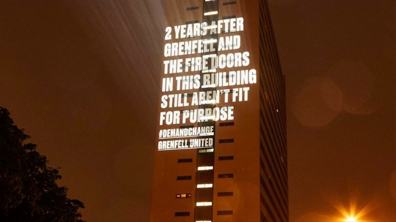 Grenfell United projection