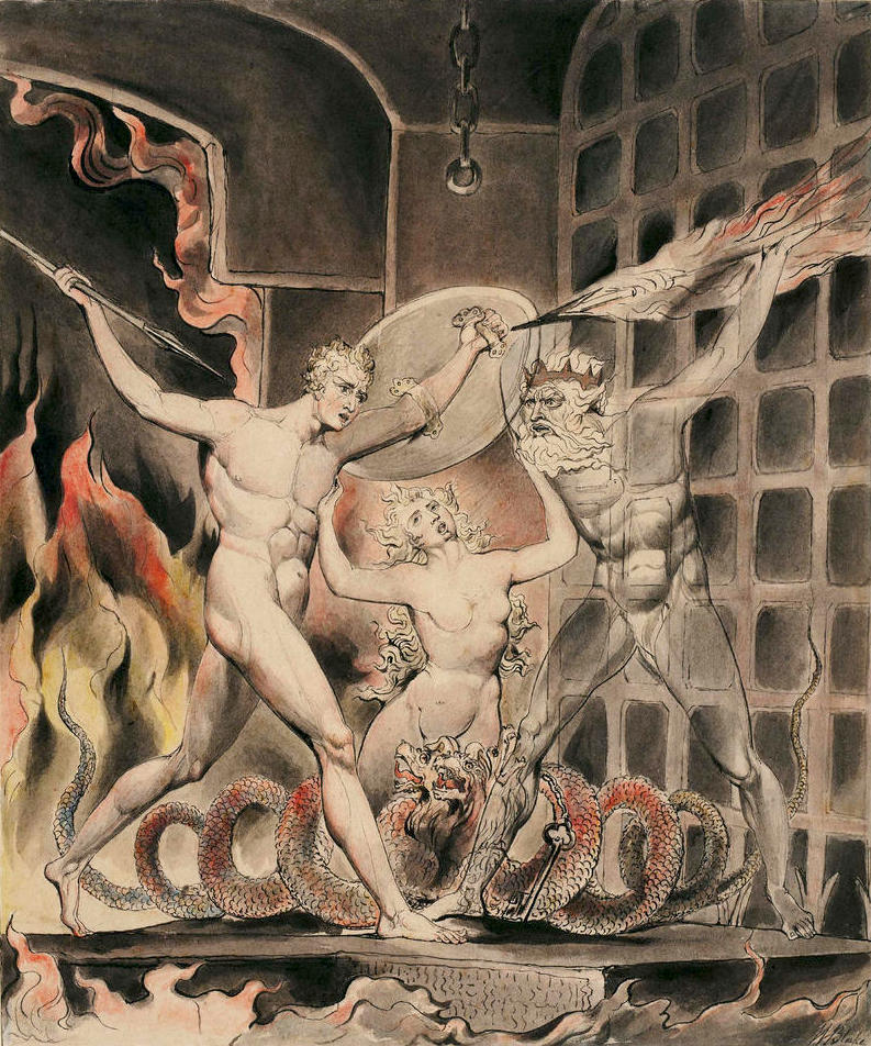 William Blake Milton's Paradise Lost, Satan Comes to the Gates of Hell