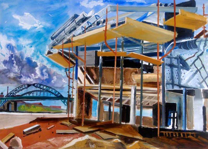 Soden, Robert, b.1955; The Construction of Prospect Building No.4, University of Sunderland, Tyne and Wear