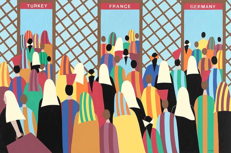 Helen Zughaib Syrian Migration Series 14
