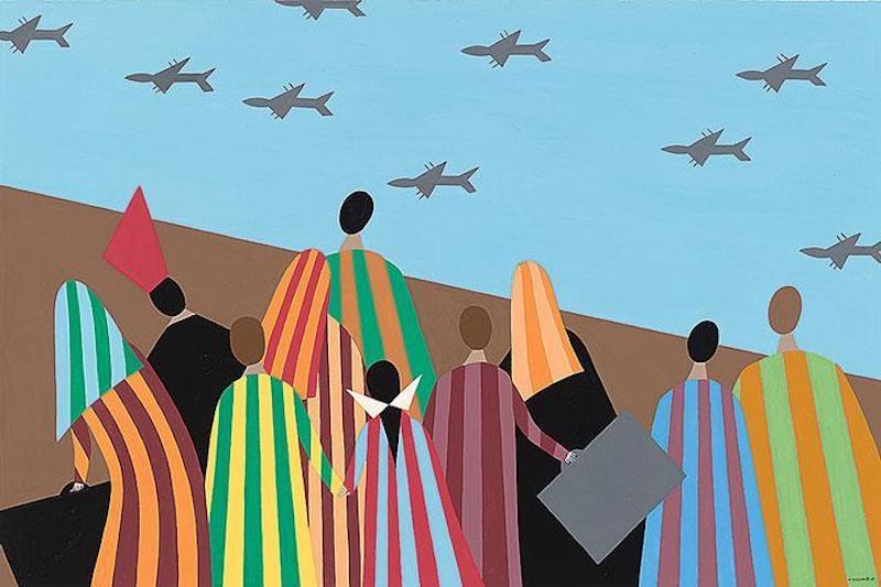 Helen Zughaib Syrian Migration Series 4