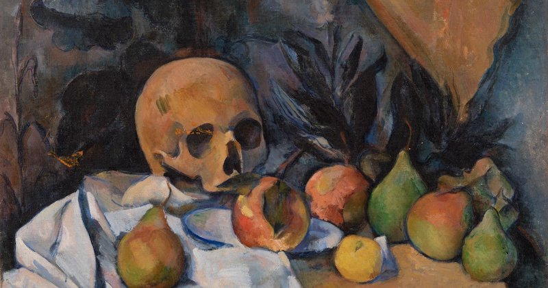 Cezanne, Still life with skull